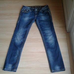 rock revival Jen skinny blue jeans